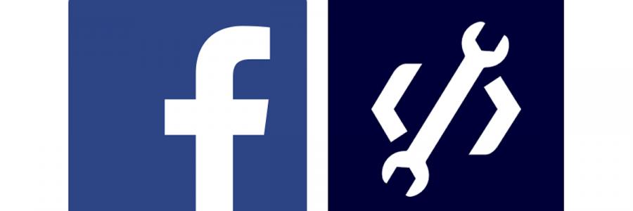 facebook logo with developer settings